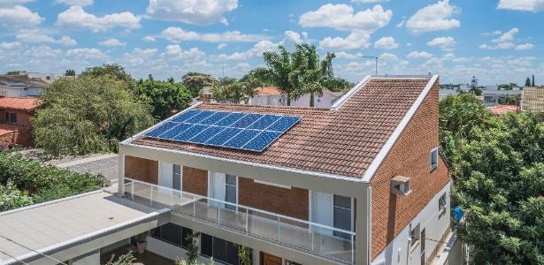Painés solares fazem a conversão direta da radiação solar em energia elétrica