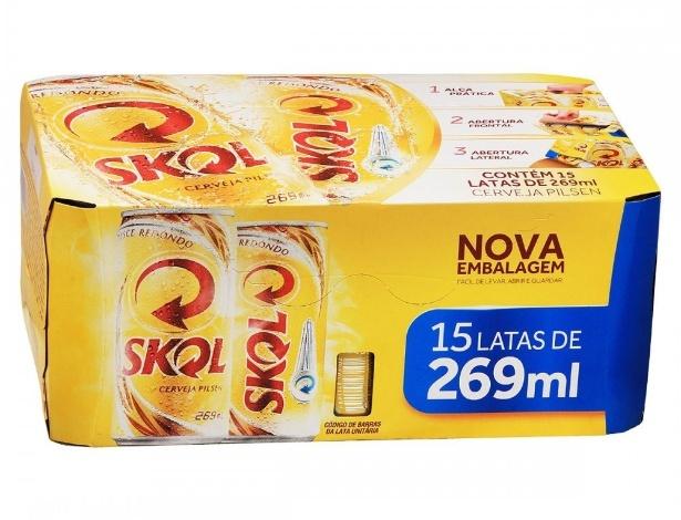 Cerveja Skol lata de 269 ml