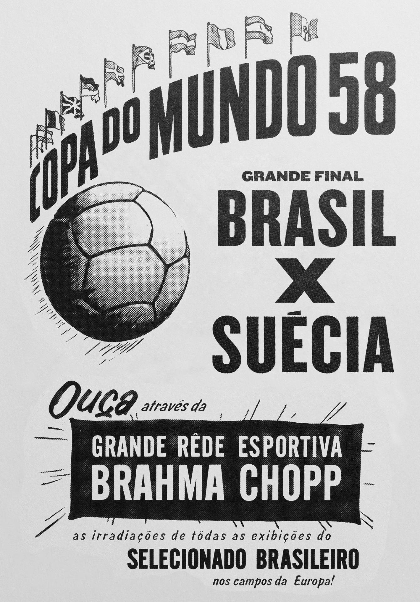 Anúncio da Brahma em 1958