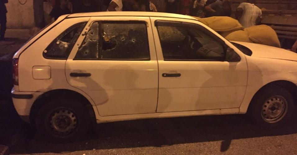 11.mai.2018 - Carro usado na reconstituição do assassinato de Marielle Franco e seu motorista Anderson Franco após tiros