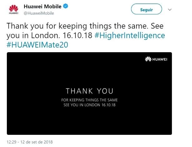 Twitter da Huawei zoa a Apple sobre novos iPhone - Reprodução