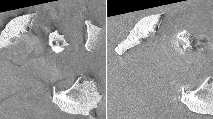 Satélite mostra colapso de vulcão em ilha atingida por tsunami na Indonésia