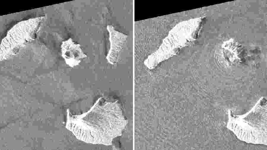Imagens de satélite recebidas da Autoridade de Informação Geoespacial do Japão (GSI) por meio da Agência de Exploração Aeroespacial do Japão (JAXA) - AFP
