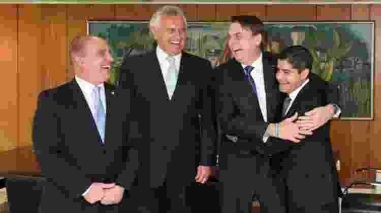 Da esq. para a dir.: Onyx Lorenzoni, Ronaldo Caiado, Jair Bolsonaro e ACM Neto. Raquel Dodge é próxima do governador de Goiás - Presidência da República/BBC