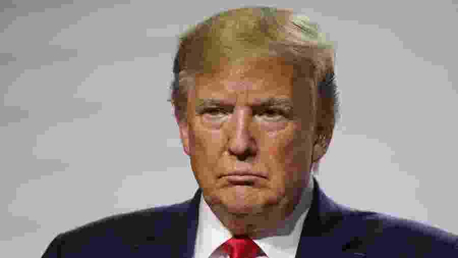O presidente dos Estados Unidos, Donald Trump, durante conferência de imprensa na cúpula do G7 em Biarritz, na França - Ludovic Marin/AFP