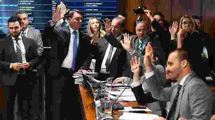23.out.2019 - Bancada do PSL vota durante reunião da CPMI das Fake News - Marcos Oliveira/Agência Senado - Marcos Oliveira/Agência Senado