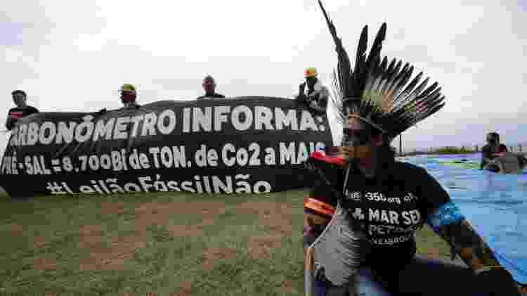 Protesto leilão pré-sal - José Lucena/Futurapress/Estadão Conteúdo - José Lucena/Futurapress/Estadão Conteúdo