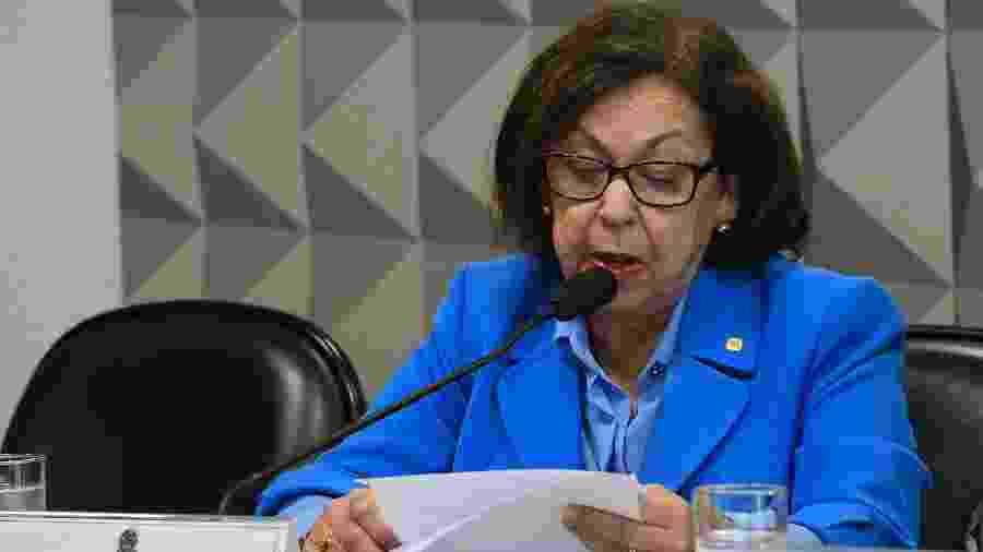 Deputada federal Lídice da Mata (PSB-BA), relatora da CPMI das Fake News (10.dez.2019) - Roque de Sá/Agência Senado