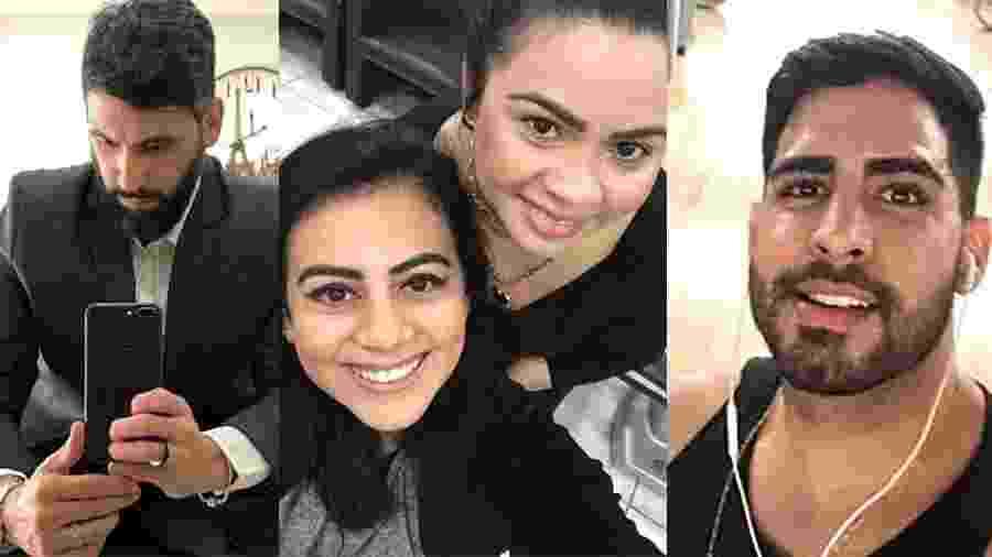 Rodrigo (à dir.), Alana (centro) e Waldemberg: sem renda por causa do isolamento social - Arte/UOL