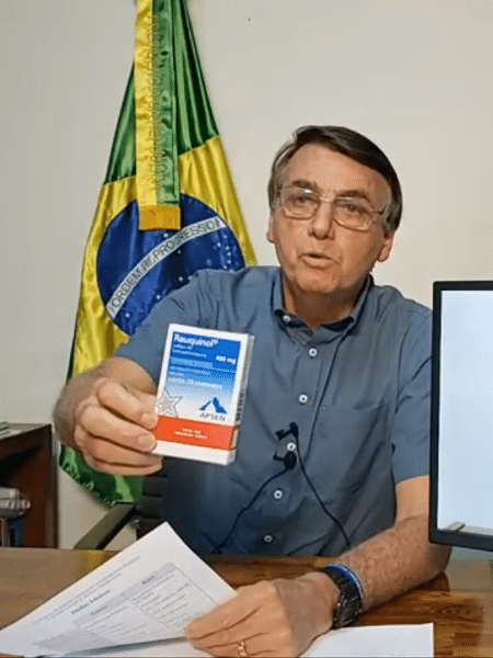 O presidente Jair Bolsonaro (sem partido), em sua live semanal - Reprodução/YouTube