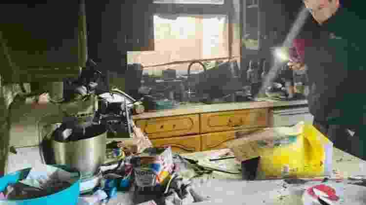 Casa no Reino Unido fica destruída após pegar fogo  - Amy Brown/Facebook - Amy Brown/Facebook