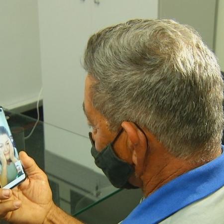 Por videochamada, pai e filha se reencontraram depois de 30 anos graças ao banco de DNA da polícia  - Reprodução/TV Anhanguera