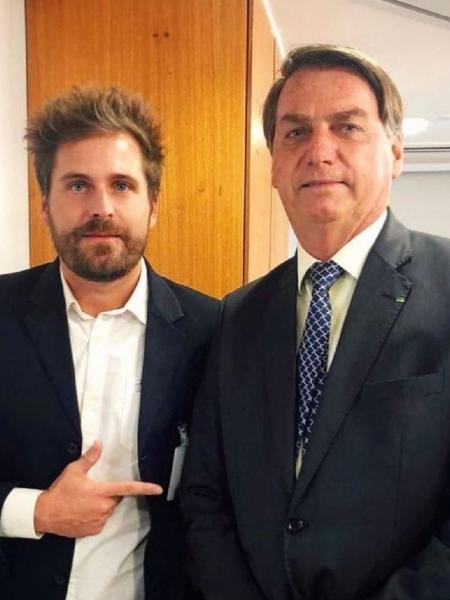 Thiago Gagliasso posa ao lado do presidente Jair Bolsonaro - Reprodução/Instagram/thigagliasso