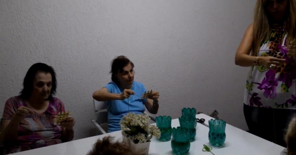 A casa Alegria de Ser, de Santo André, no ABC Paulista, oferece o serviço de creche para idosos