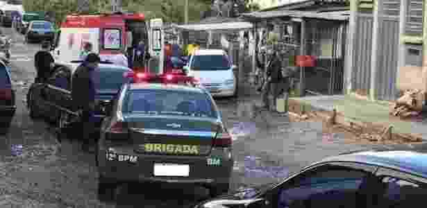 Local do assassinato de Juliana Fonseca Prestes, no bairro Mariani, em Caxias do Sul - Divulgação/ BM