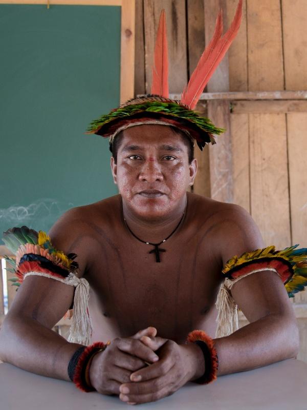 Osmar Ka'apor, que defende a terra indígena de seu povo, no noroeste do Maranhão