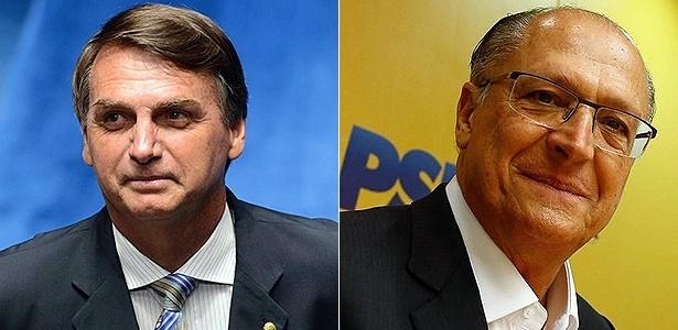 O deputado Jair Bolsonaro (à esq.) e o ex-governador de São Paulo Geraldo Alckmin