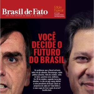 Capa do jornal Brasil de Fato sobre as eleições