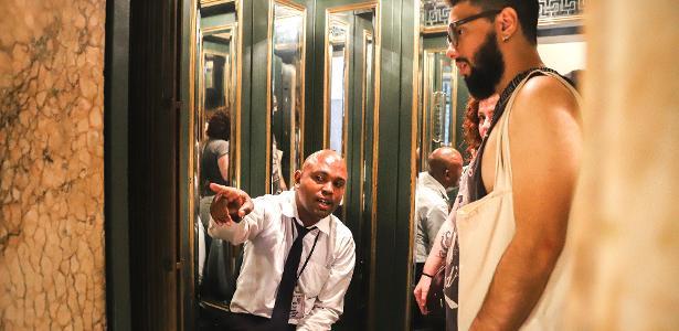 Marcio Martins é ascensorista do Centro Cultural Banco do Brasil, no Rio de Janeiro