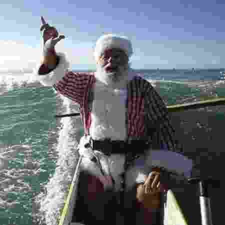 Papai Noel passa pelo Havaí em foto publicada pela Norad no Twitter - Reprodução/Twitter