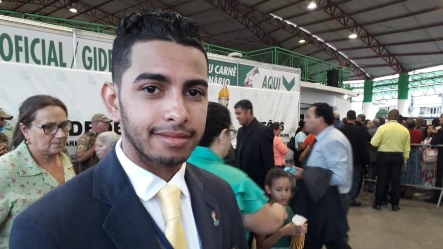 Alisson Henrique Cantagalo Ponci, 21, no congresso em Camboriú (SC) - Vinicius Konchinski/UOL