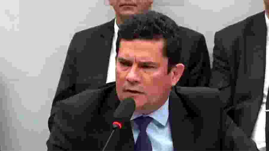 02.jul.2019 - Sergio Moro depõe na CCJ da Câmara - Reprodução/TV Câmara