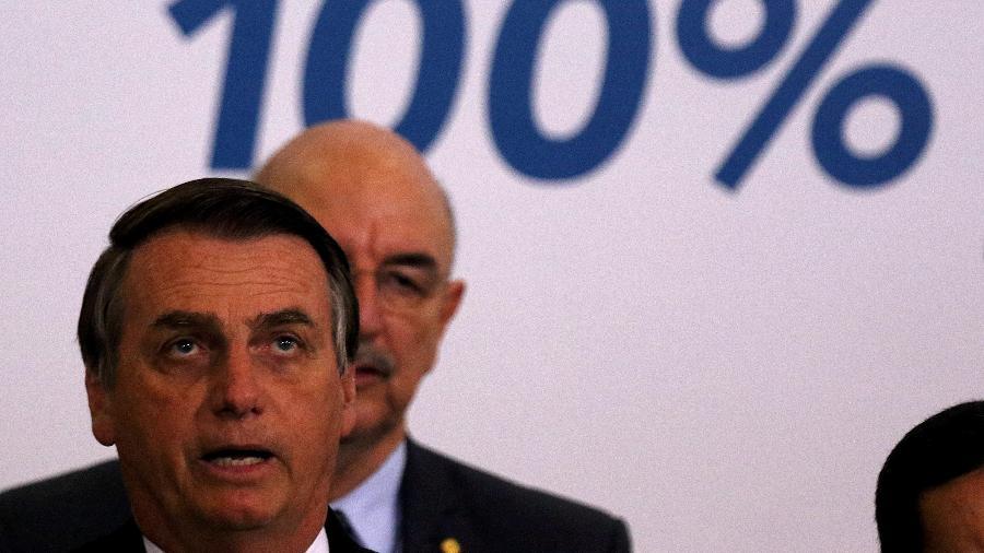 18.jul.2019 - O presidente Jair Bolsonaro (PSL) em evento que marcou os 200 dias do governo - CLÁUDIO REIS/ ESTADÃO CONTEÚDO