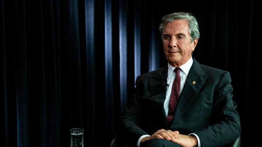 6.dez.2019 - O senador e ex-presidente Fernando Collor de Mello (Pros-AL), em entrevista ao UOL e à Folha, em Brasília - Kleyton Amorim/UOL