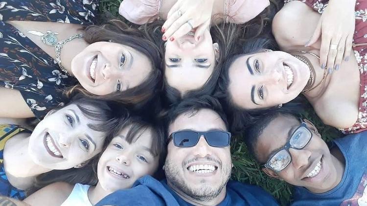 A família, do Distrito Federal, passa férias em Praia de Pipa (RN) - Arquivo Pessoal