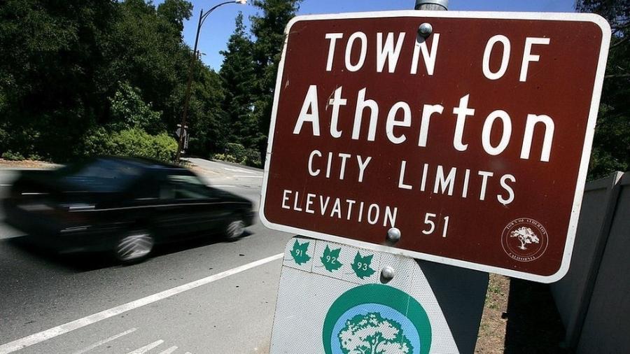 A renda média de uma família em Atherton é superior a R$ 2,3 milhões por ano - Getty Images