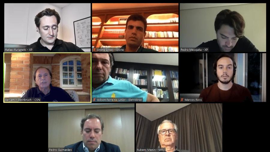 Empresários participam de debate online sobre coronavírus e crise econômica - Reprodução