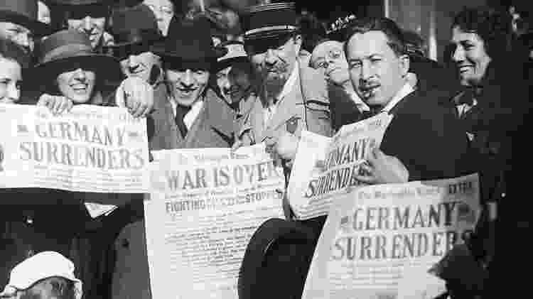 Schumpeter viveu a Primeira Guerra Mundial, que causou grandes estragos na Europa - Getty Images - Getty Images