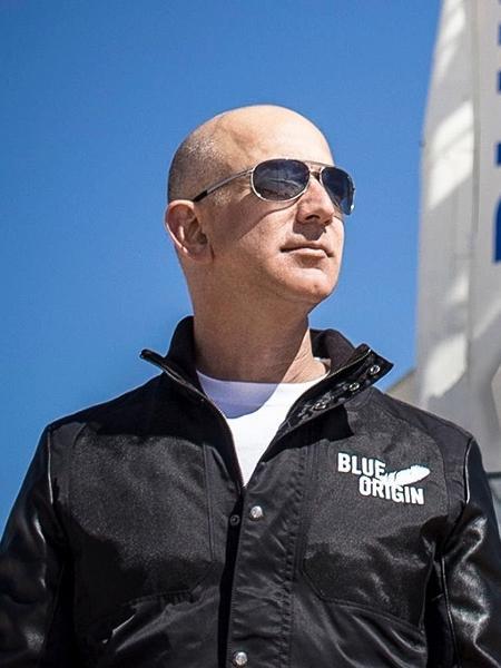 Jeff Bezos, fundador da Blue Origin (e da Amazon) - Divulgação/Blue Origin