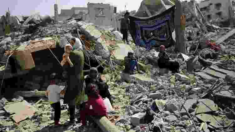 Confrontos entre Israel e militantes palestinos em 2014 devastou o território em Gaza - EPA - EPA