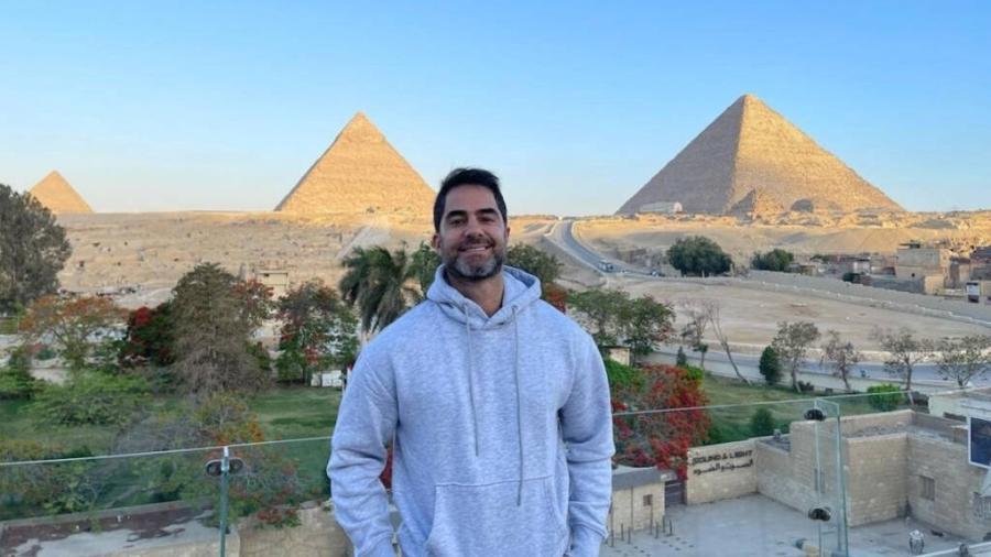 Victor Sorrentino em sua viagem ao Egito - Reprodução/Instagram