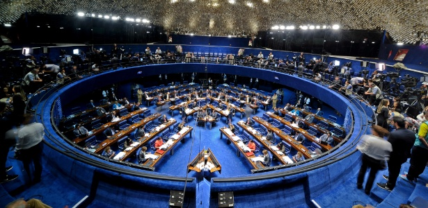 Plenário do Senado durante sessão deliberativa extraordinária para julgamento do processo de impeachment da presidente Dilma