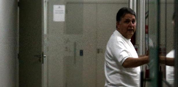 Garotinho na sede da PF no Rio após ser detido nesta quarta-feira (16)