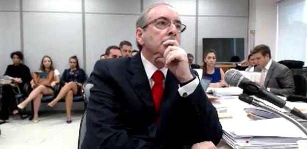 7.fev.2017 - O deputado cassado Eduardo Cunha (PMDB-RJ) ao ser interrogado