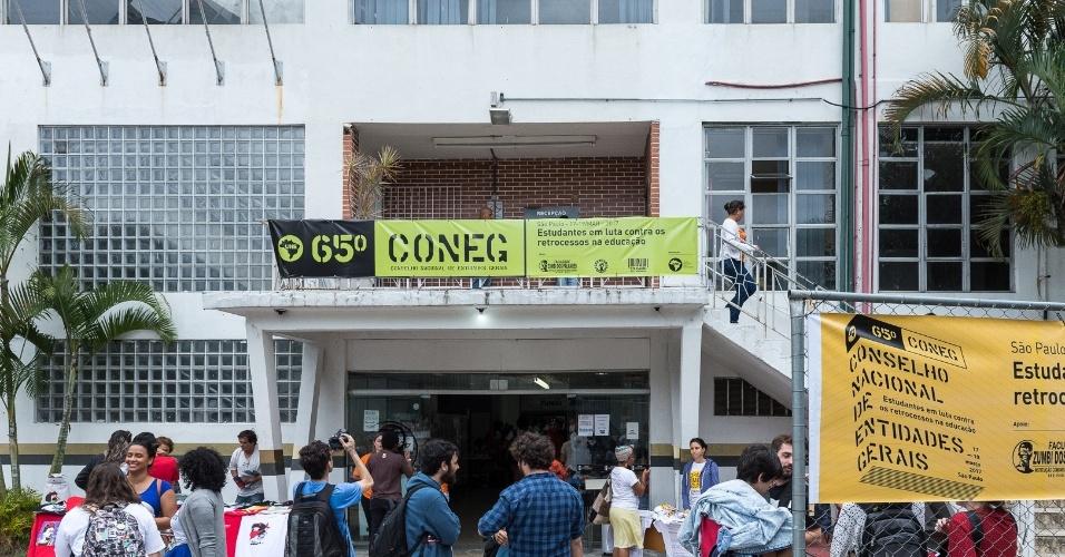 Estudantes no 65º Coneg, evento realizado pela UNE em São Paulo com presidentes de DCEs de todo o país