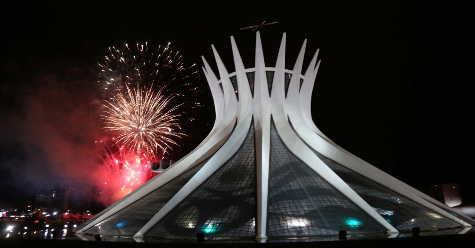 Queima de fogos no réveillon de Brasília