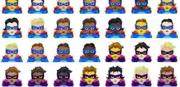 Emoji - Super-heróis e vilões - Reprodução - Reprodução