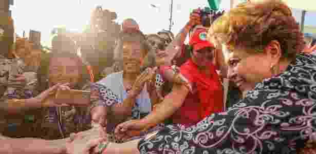 Ex-presidente Dilma Rousseff em ato político no acampamento do PT em Curitiba - Ricardo Stuckert