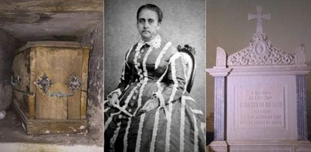 Corpo de condessa brasileria teria chegado ao Brasil, embalsamado, três anos depois de sua morte, mas caixão continha apenas ossos e serragens, segundo relatos - Haríolo dos Santos/JJ de Barros/Cinara Jorge