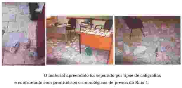 Cartas escritas por membros do PCC apreendidas na Penitenciária 2 de Presidente Venceslau - Reprodução/Polícia Civil