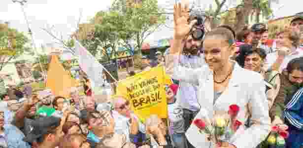 Marina Silva fez campanha em Mauá (SP) neste sábado (25) - Daniel Teixeira/Estadão Conteúdo