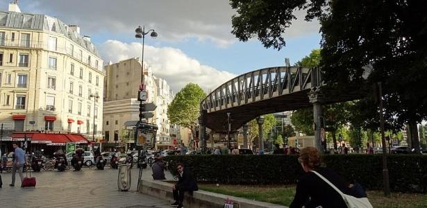 A praça de Stalingrad no nordeste de Paris - Jeanne Menjoulet/Creative Commons