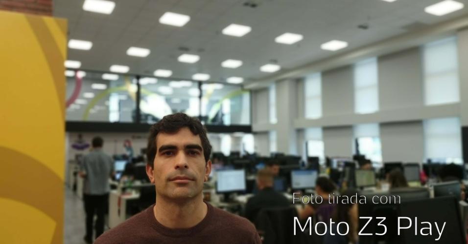 Foto tirada com câmera traseira do Moto Z3 Play
