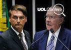Arte UOL sobre fotos de Pedro Ladeira/Folhapress e Pedro França/Agência Senado