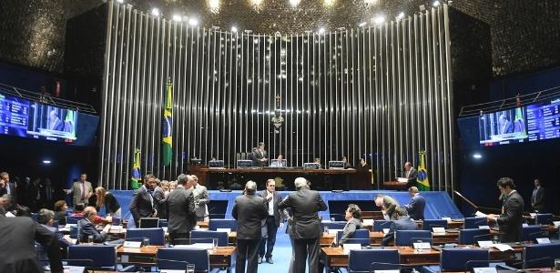 7.nov.2018 - Plenário do Senado Federal durante sessão deliberativa