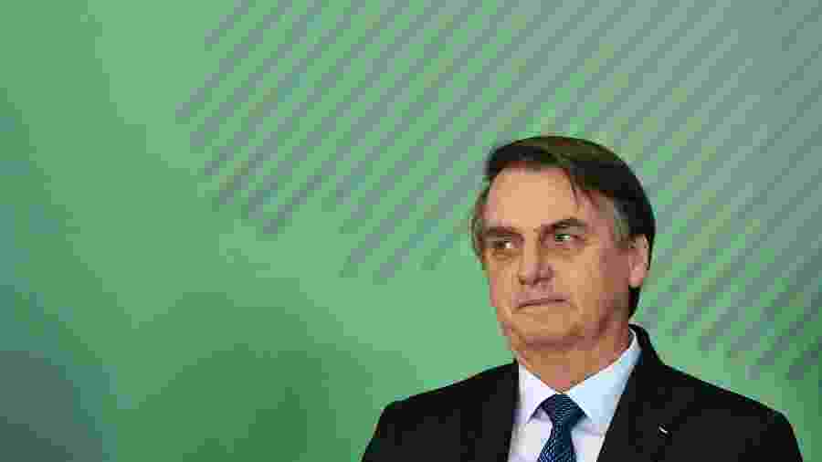 O presidente Jair Bolsonaro (PSL) em evento em Brasília - Evaristo Sá/AFP